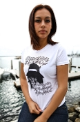 Ladies T shirt by Astek, in white