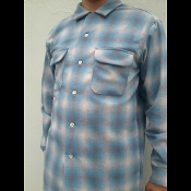 blue charcoal ombre Pendleton board shirt wool flannel photography by