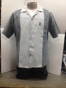 Old school two tone shirt charcoal gray