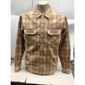 Spring 2015 Pendleton board shirt wool flannel color soft blue and gray