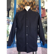 Size 7X Black Knit Collar Clicker Coat