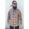tan gold grey ombre Pendleton board shirt all wool flannel 2015