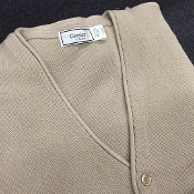 Tan Classic Cardigan Sweater