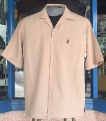 Tan Shirt with Monogram