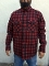 Quilted CPO Lined Pendleton Jacket Shirt Red
