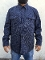 Quilted CPO Lined Pendleton Jacket Shirt Navy Wool Denim