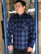 Quilted CPO Lined Pendleton Jacket Shirt Pendleton Blue Plaid
