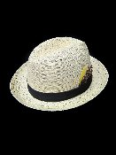 Beige Regular Straw Center Crease Hat