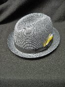 Gray Stingy Brim Milano Straw Center Crease Hat