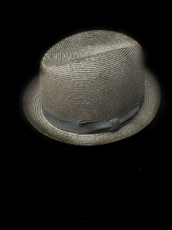 Center Crease Stingy Brim Milano Straw Hat Brown