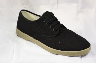 Lace Up Winos Black with Tan