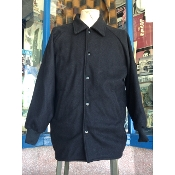 Size 7X Black Wool Melton Collar Clicker Coat
