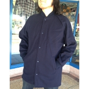 Greenspan's Knit Collar Clicker Coat Navy