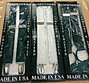 Clip Dress Suspenders Solid Color