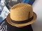 Tan Regular Straw Center Crease Hat Stingy Brim