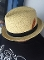 Beige Regular Straw Center Crease Hat Stingy Brim