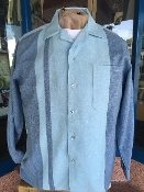 Denim With Blue Stripe Long Sleeved Shirt