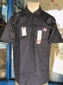Ben Davis Short Sleeve Half Zip Shirt Charcoal