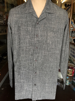 Long Sleeve Single Pocket Serpentine Shirt Heathered Charcoal