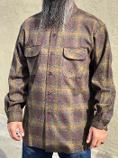 red gray with ombre Pendleton board shirt all wool flannel 2016