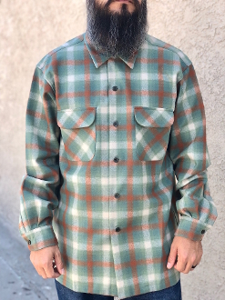 blue tan ombre Pendleton board shirt all wool flannel 2015