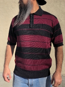 FB County Charlie Brown 3 Color Shirt Black/Burgundy/Gray