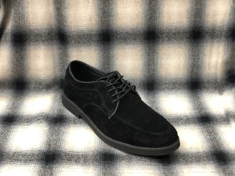 Hush Puppies Lace Up Suede Shoes Black