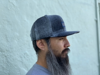 Pendleton Wool Snapback Cap Charcoal Ombre