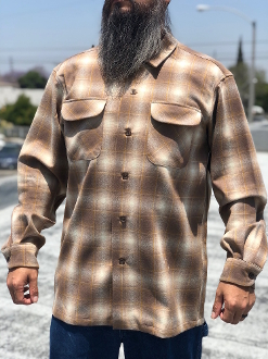 Taupe Gold Ombre Spring 2020 Pendleton Board Shirt
