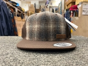Brown With Brown/Ivory Pendleton Wool Flat Cap