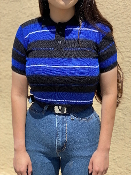 Child's Size FB County 3 Color Charlie Brown Black/Royal/White