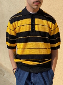 FB County Charlie Brown Polo Shirt Black/Gold