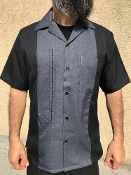 Short Sleeve Single Pocket TwoTone OTR Shirt Black w/Smooth Char