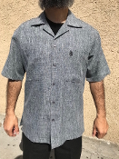 Short Sleeve Double Pocket Emblem Shirt Heathered Charcoal