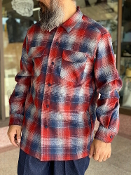 PREORDER Spring 2021 Pendleton Board Shirt Navy Red Ombre Plaid