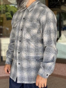 PREORDER Spring 2021 Pendleton Board Shirt Grey Ombre Plaid
