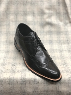 Stacy Adams Wingtip Daytons Black Smooth Leather
