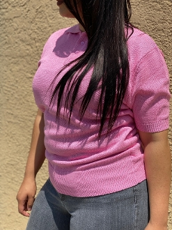 County FB Charlie Brown Polo Shirt Solid Pink