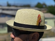 Center Crease Reg Brim Breathable Straw Hat Beige