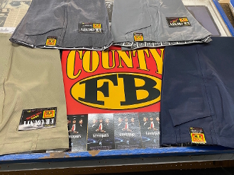 90's Vintage FB County Twill Pants Size 50 Light Gray