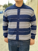 FB County Long Sleeve Button Up FB Charlie Brown Navy/Gray/White