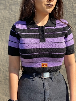 FB County Women's Cropped Charlie Brown Black/Lavender