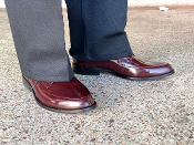 Greenspan's Leather Imperials Burgundy